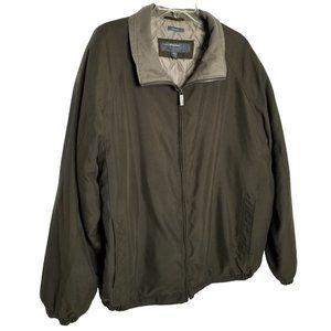 Perry Ellis Portfolio Sz XXL Jacket Lightweight Coat Quilted Lining Zip Pockets